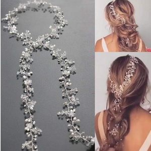 Crystal/Silver Long Hair Vine